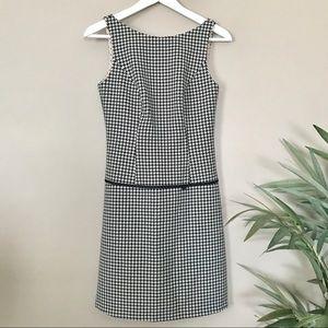 ABS Allen Schwartz Black White Houndstooth Dress